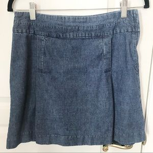 Banana Republic Jean Denim skirt 6